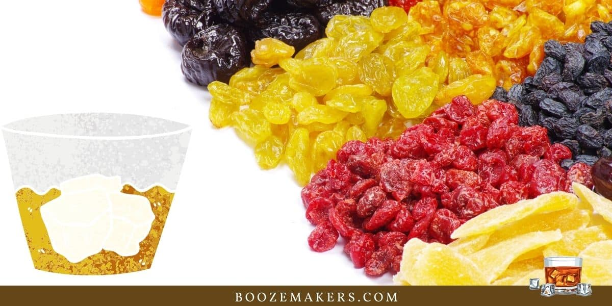 whisky dried fruit